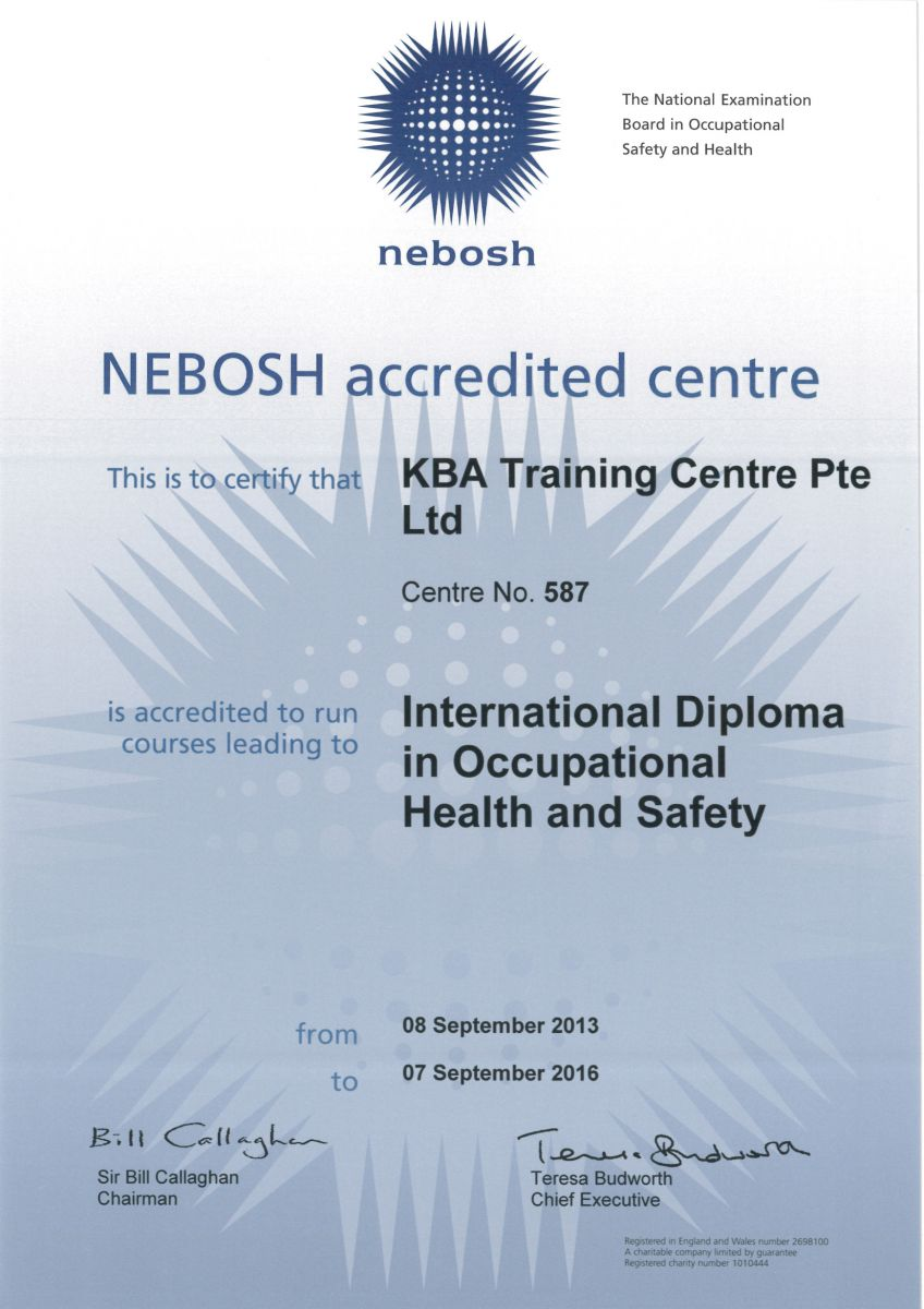 NEBOSH Courses International Diploma In Occupational
