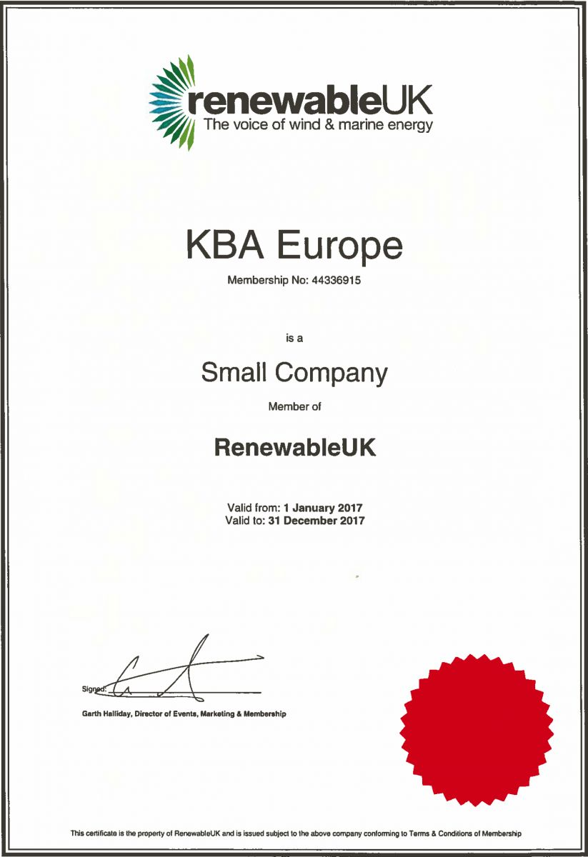 KB Associates Europe, RenewableUK Membership