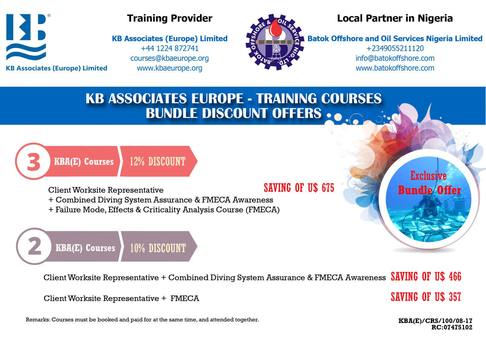 KBA(E) Training Courses - Bundle Offers (Exclusive for Courses in Nigeria)