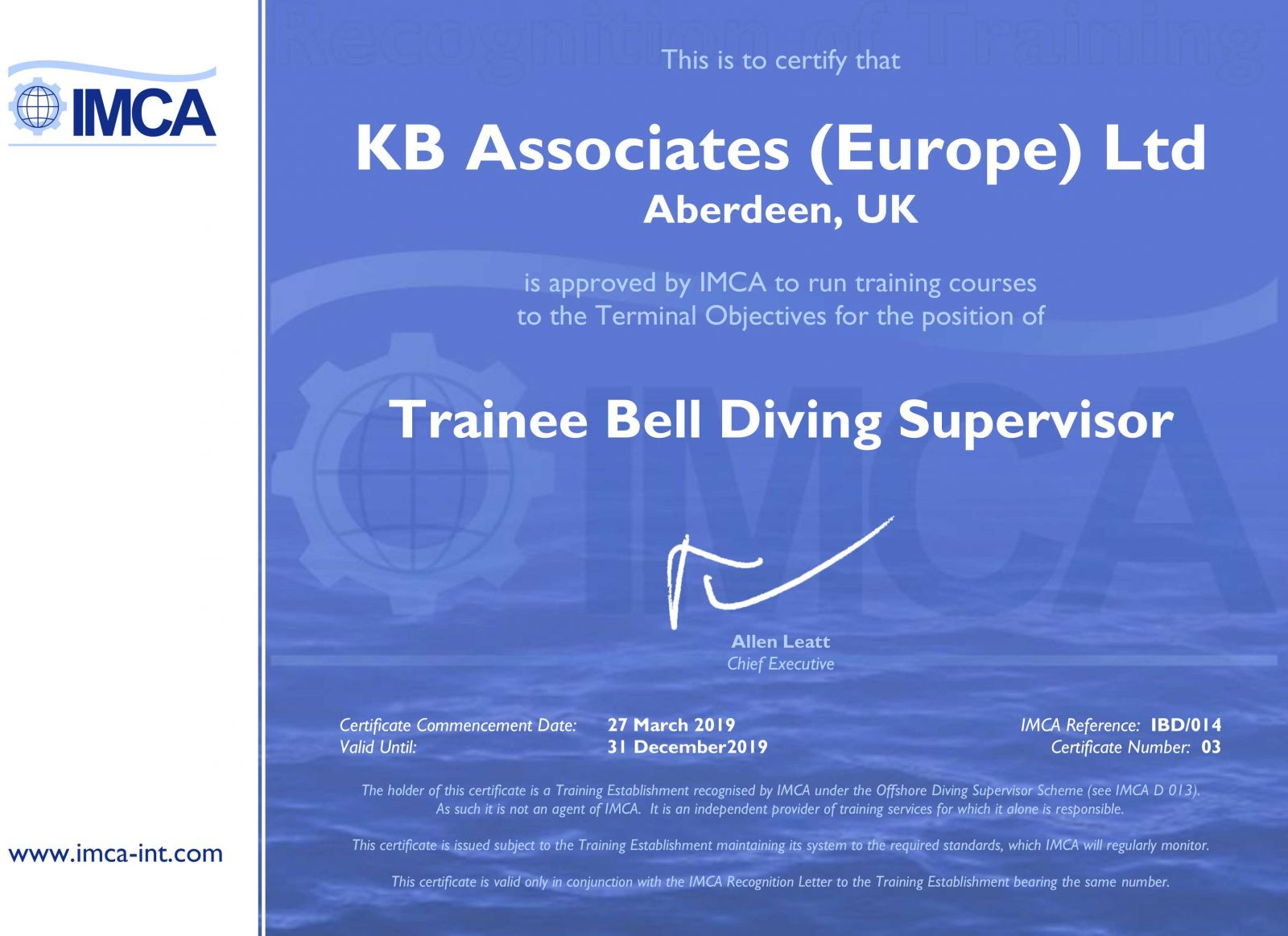 IMCA-Trainee-BELL-Diving-Sup-Certificate-2019