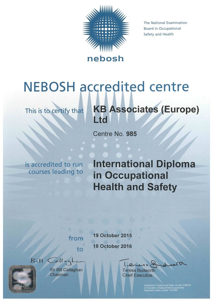 NEBOSH International Diploma in Occupational Health & Safety